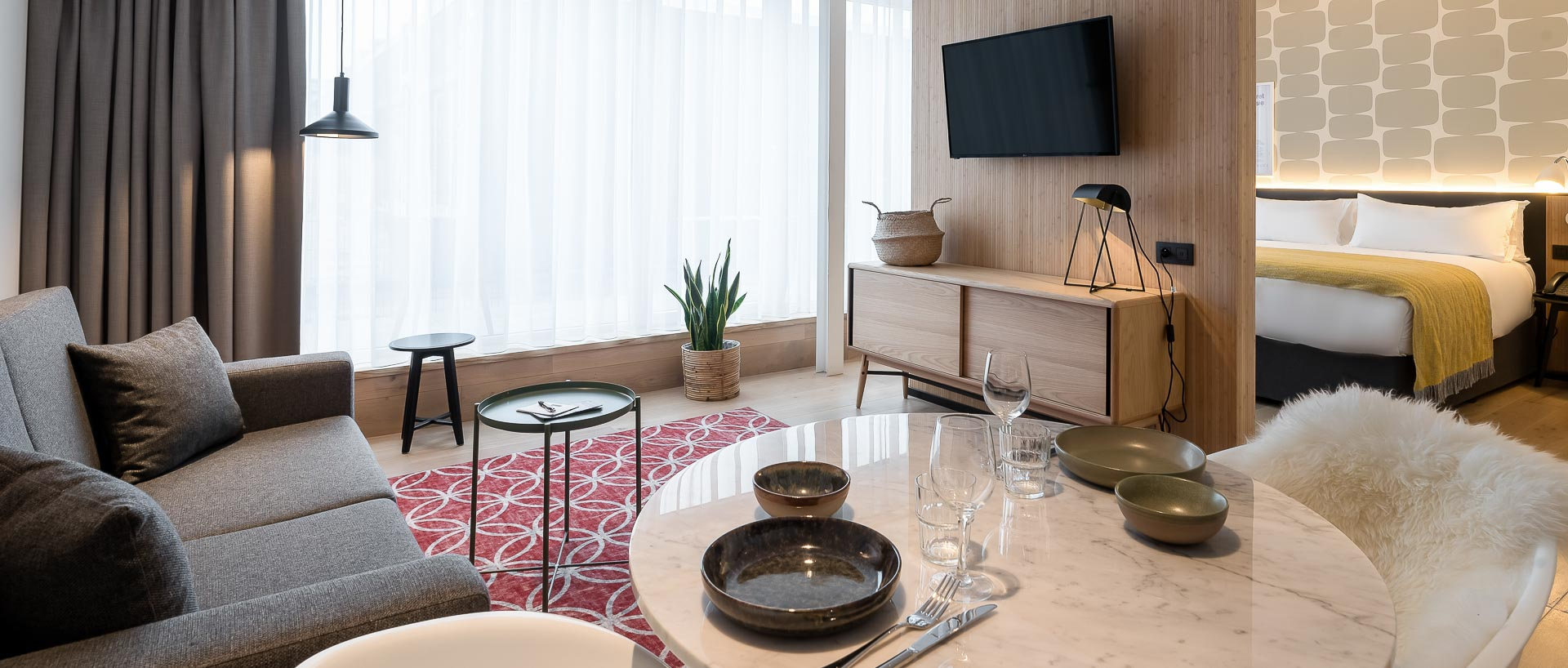 Livinf room Penthouse apartment  PREMIER SUITES PLUS Antwerp
