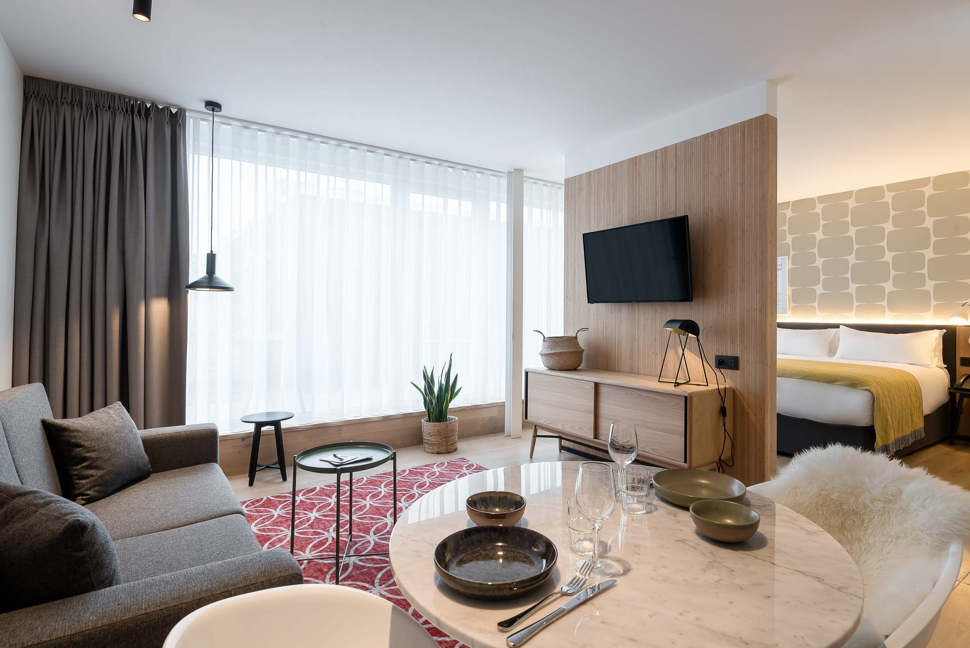 Living area in PREMIER SUITES Antwerp